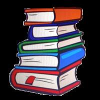 Bücherstapel von Einladung
